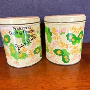 Vintage Jean Nate powder canisters